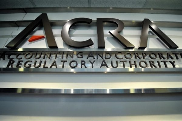 Accounting and Corporate Regulatory Authority (ACRA). The registrar of companies in Singapore.