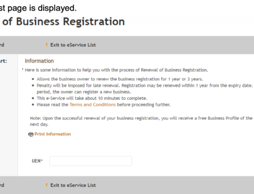 A Definitive Guide to Business Renewal, as Specified by ACRA