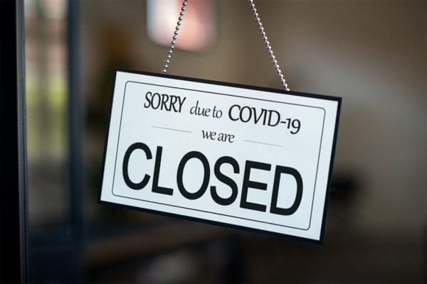 Business closures caused by the COVID-19 pandemic.